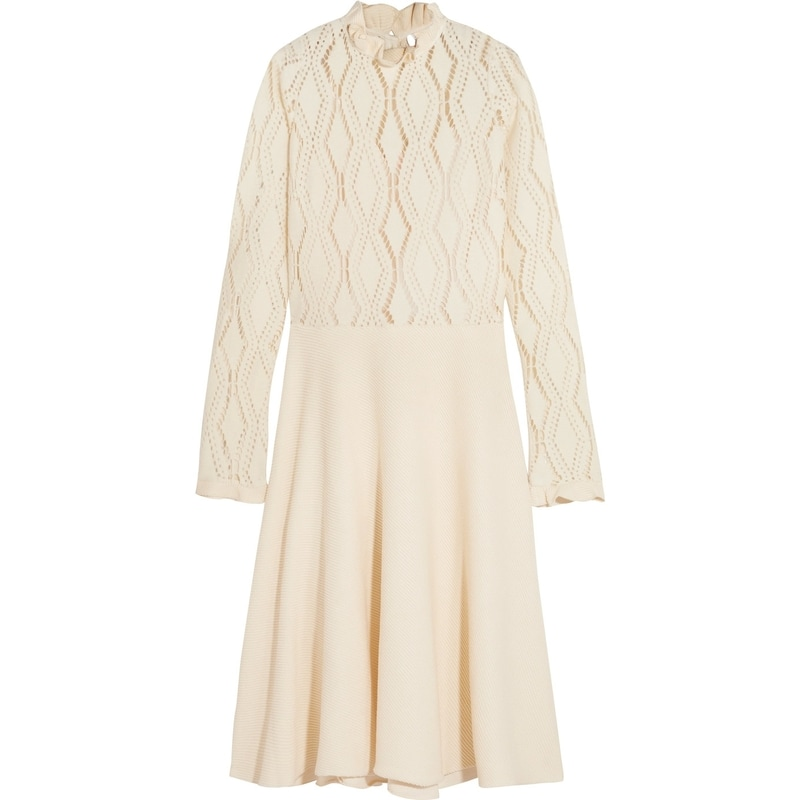 See by Chloé Lacy Jersey Long Sleeve Dress
