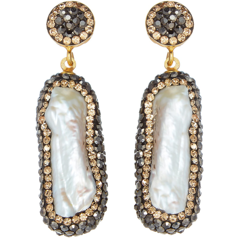 Soru Baroque Pearl Double Sided Earrings