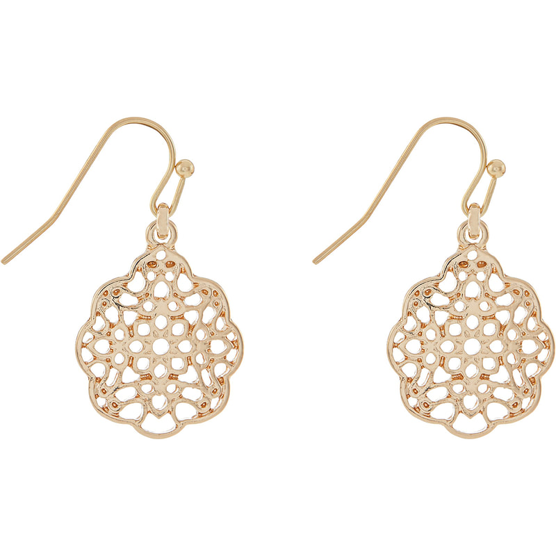 Accessorize Simple Filigree Short Drop Earrings
