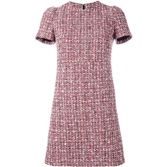 Alexander McQueen Tweed Shift Dress