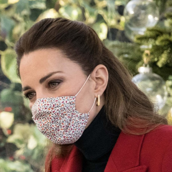 Duchess of Cambridge wears Amaia Reusable Cotton Face Mask in Liberty Print