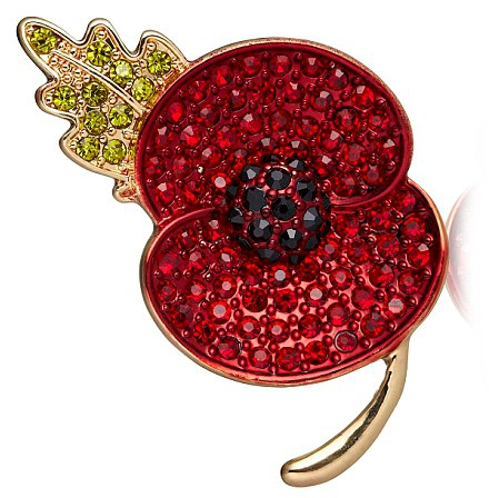 Buckley London Poppy Collection Sparkle Poppy Brooch 2013