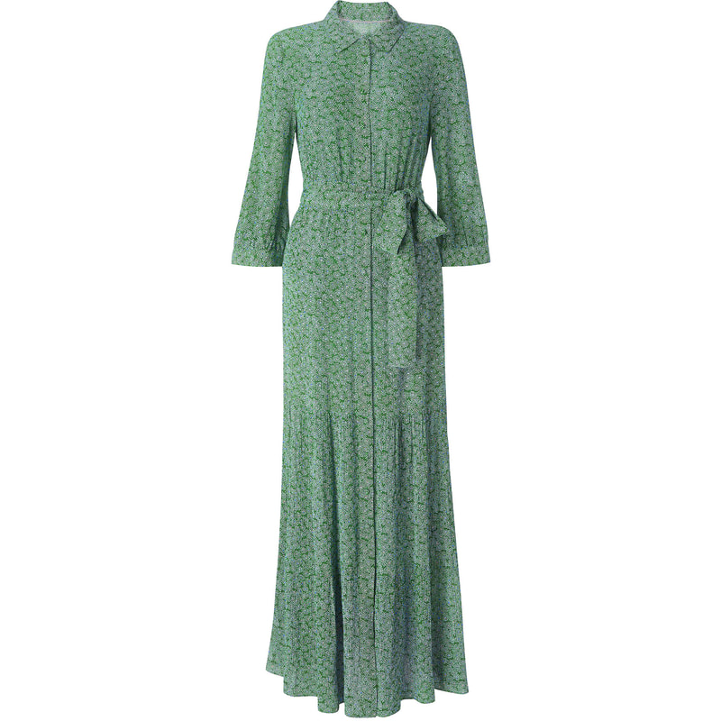 Boden Viola Green Maxi Shirt Dress