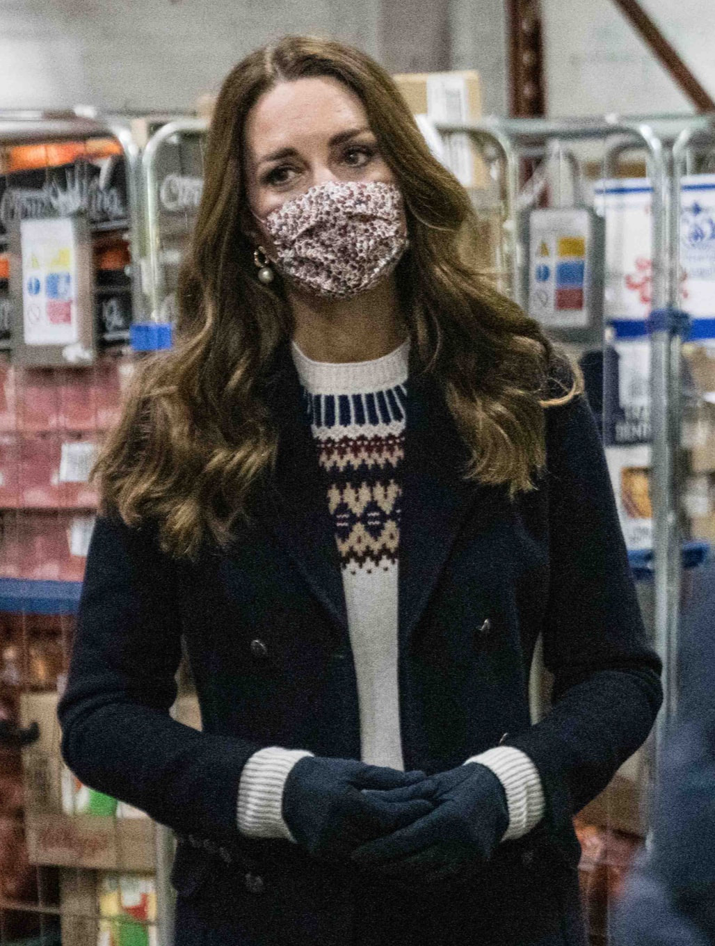 Duchess of Cambridge wears Brora x TROY Supersoft Lambswool Fair Isle Jumper