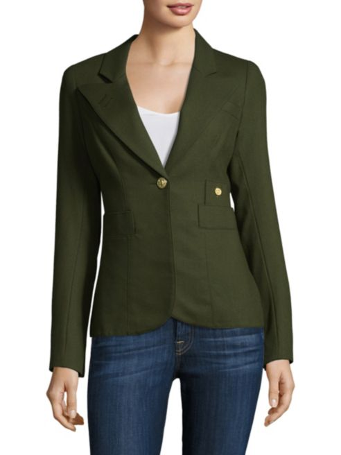 Smythe 'Duchess' wool blazer in Army green