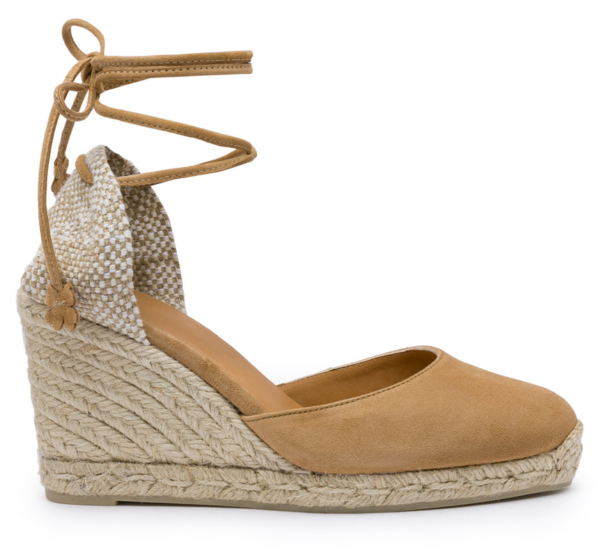 Casteñer Carina 80 wedge in brown suede