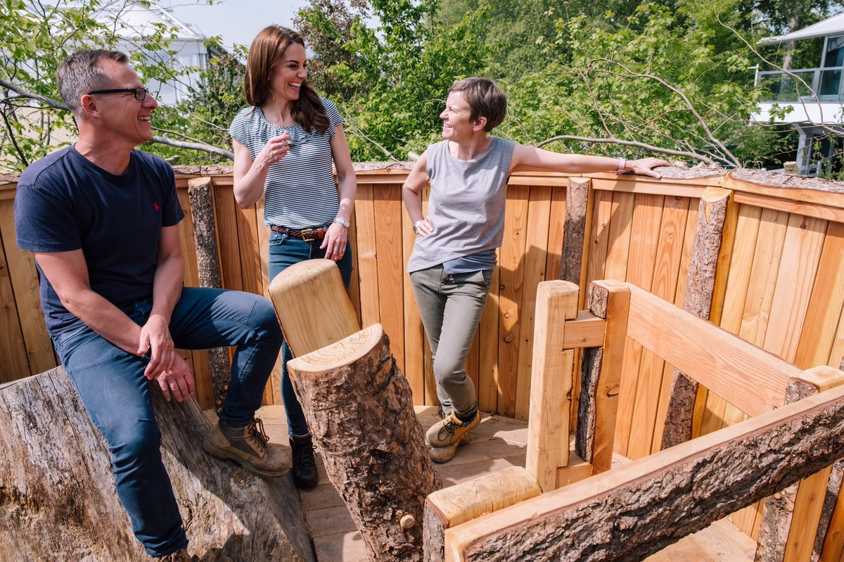 "Duchess of Cambridge on ""Back to Nature"" garden treetop"