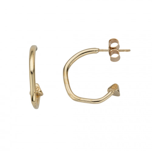 Daniella Draper Gold Mini Cupid Hoops With Baby Shamrock Charms