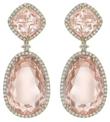 Kiki McDonough 'Special Edition' morganite drop earrings