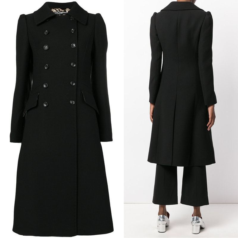 Dolce & Gabbana black double breasted coat
