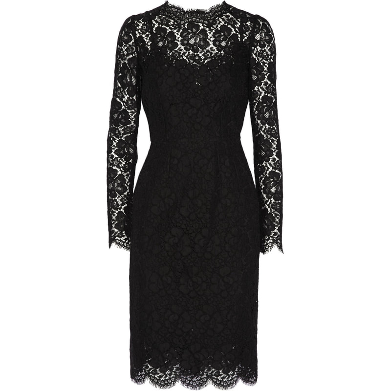 Dolce & Gabbana Black Floral Lace Dress