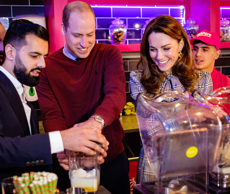 Duke and Duchess of Cambridge at MyLahore's flagship restaurant in Bradford