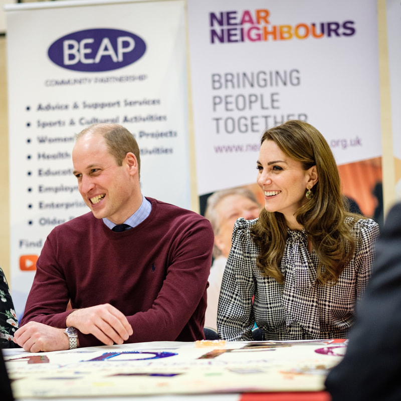 Duke and Duchess of Cambridge join a workshop run by Near Neighbours in Bradford