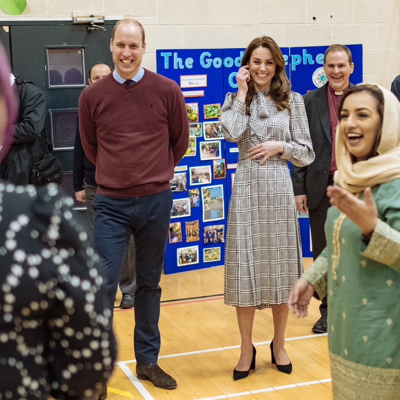 Duke and Duchess of Cambridge meet people from Near Neighbours organisation in Bradford