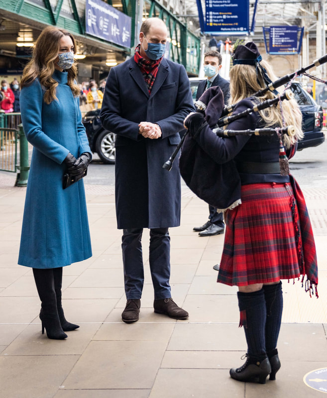 The Duke and Duchess of Cambridge arrived in Edinburgh on 7 December 2020 for their first stop of the Royal Train tour