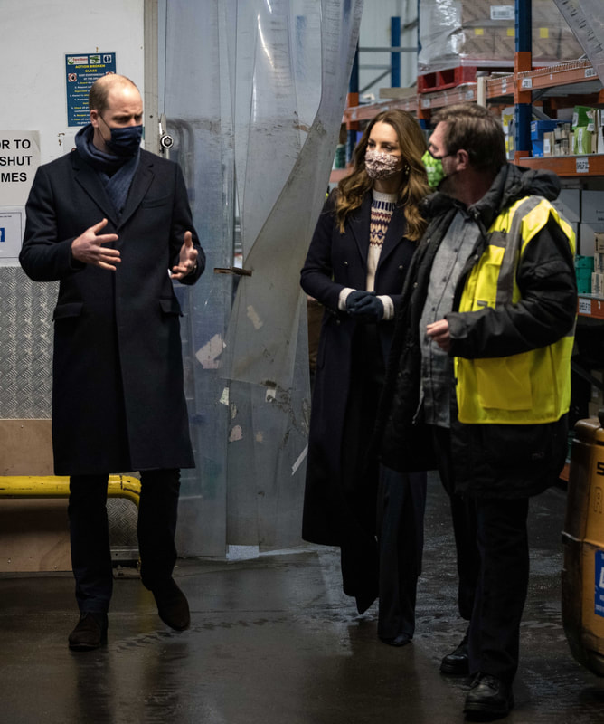 The Duke and Duchess of Cambridge visit FairShare in Manchester on 7 December 2020