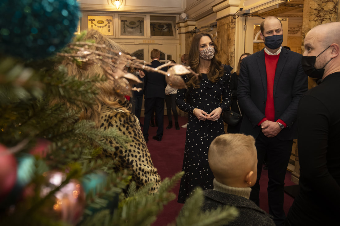 During the interval of tonight's special performance, The Duke and Duchess of Cambridge met a small number of key worker families to hear more about their experiences this year.