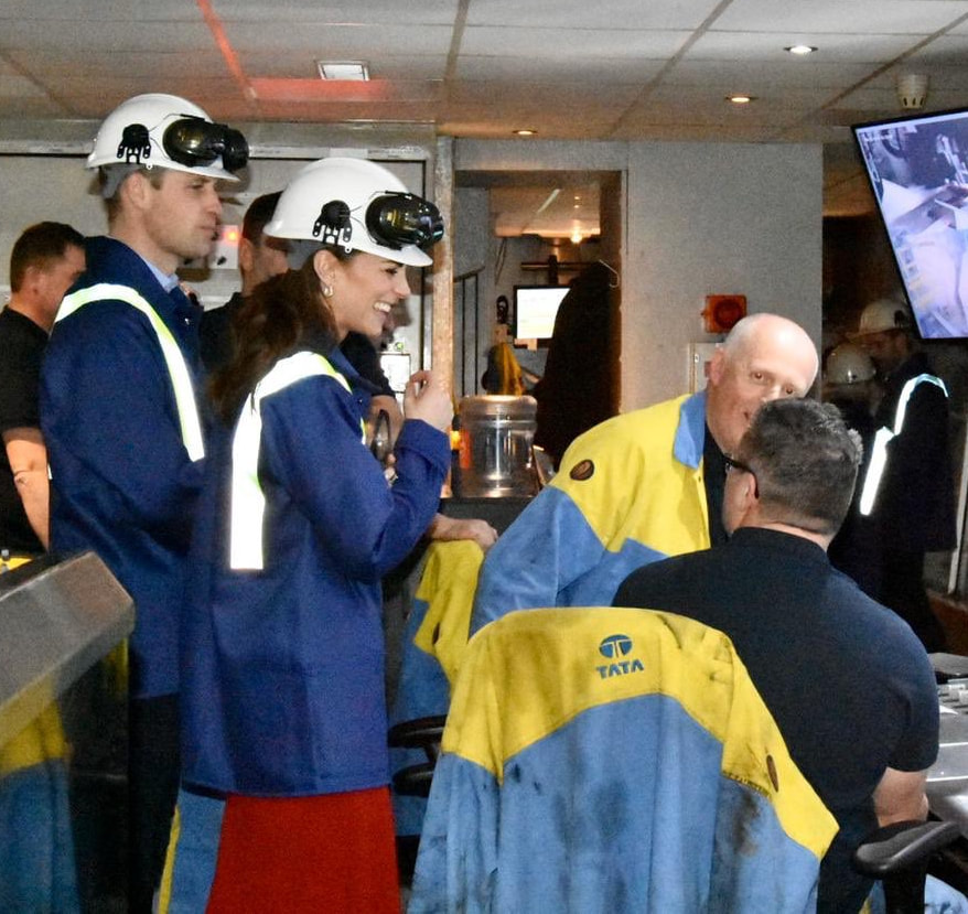 Duke & Duchess of Cambridge visit Tata Steel UK factory 2020