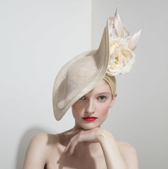 Philip Treacy oversized slice hat with rosettes