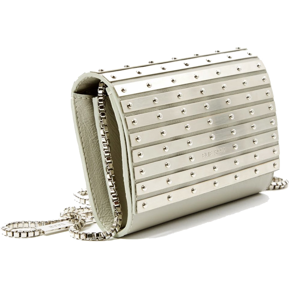 Elie Saab Abat-Jour Metallic and Leather Clutch