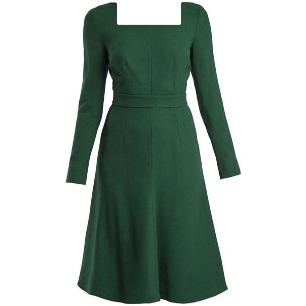 Emilia Wickstead 'Kate' Green Square Neck Dress