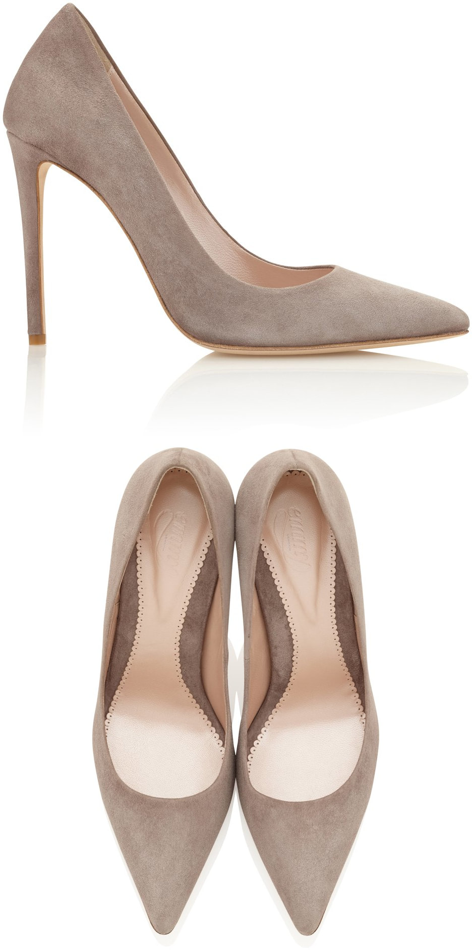 Emmy London Rebecca courts in Cinder suede