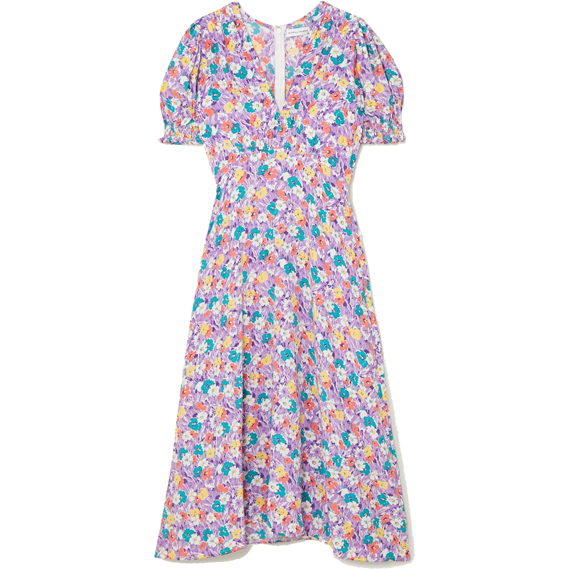 Faithfull the Brand Marie-Louise Nefeli Floral Print Midi Dress