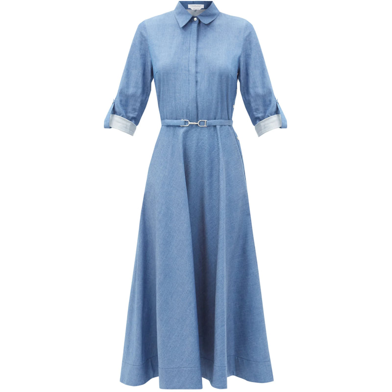 Gabriela Hearst 'Marley' Chambray Shirt Dress