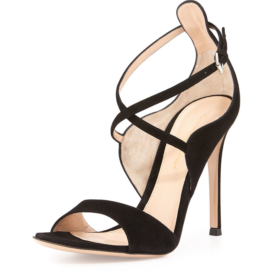 Gianvito Rossi Sisely Black Suede Sandals