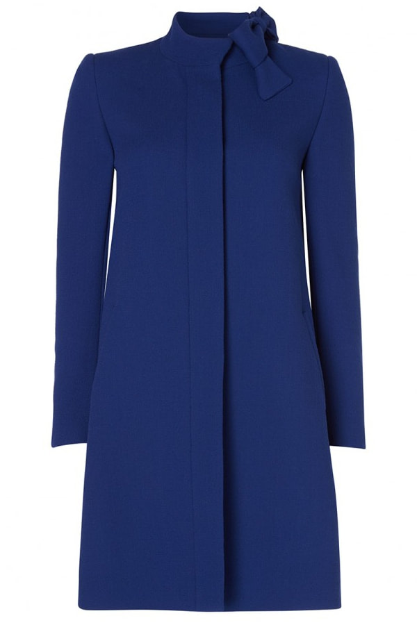 Duchess of Cambridge Kate Middleton wore Goat Ellory bow detail coat