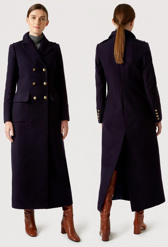 Hobbs London Bianca navy maxi coat