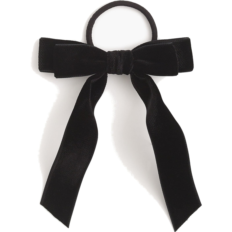 J.Crew Black Velvet Hair Tie