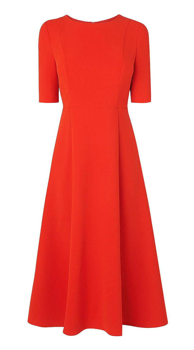 cardinal red L.K.Bennett Cayla dress