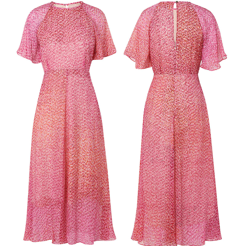 L.K. Bennett 'Madison' Pink Silk Dress