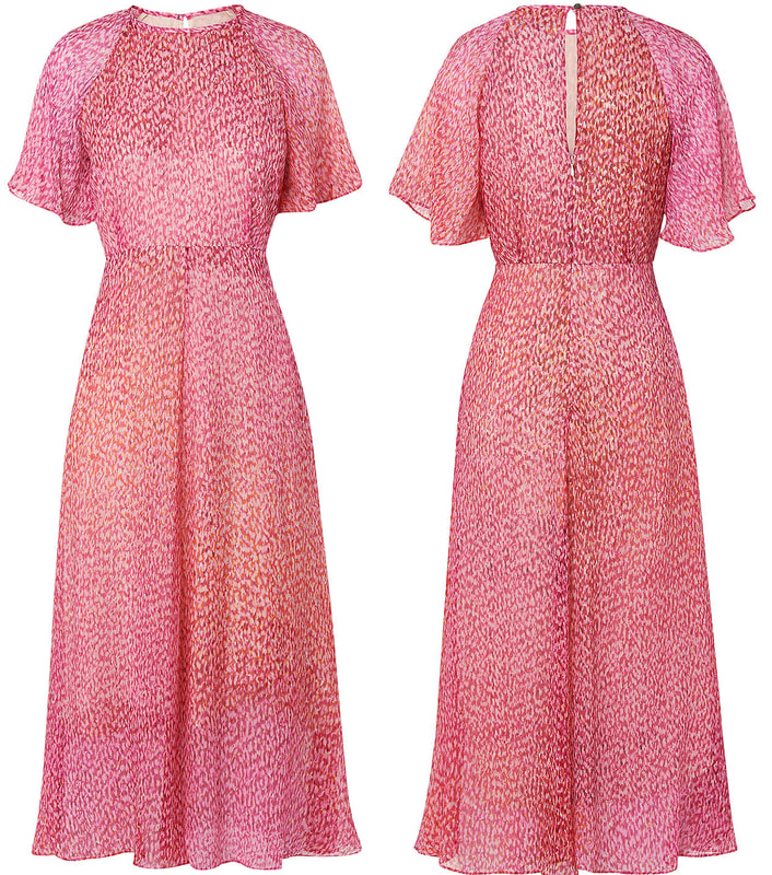 L.K. Bennett Silk 'Madison' Dress in pink