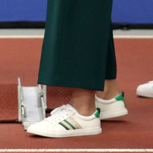 Marks & Spencer Ribbon Detail Lace Up Trainers as seen of Duchess of Cambridge