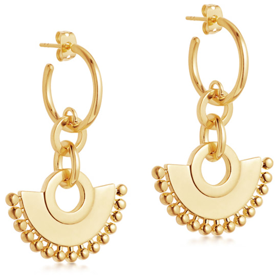 Missoma Gold Zenyu Chandelier Hoop Earrings
