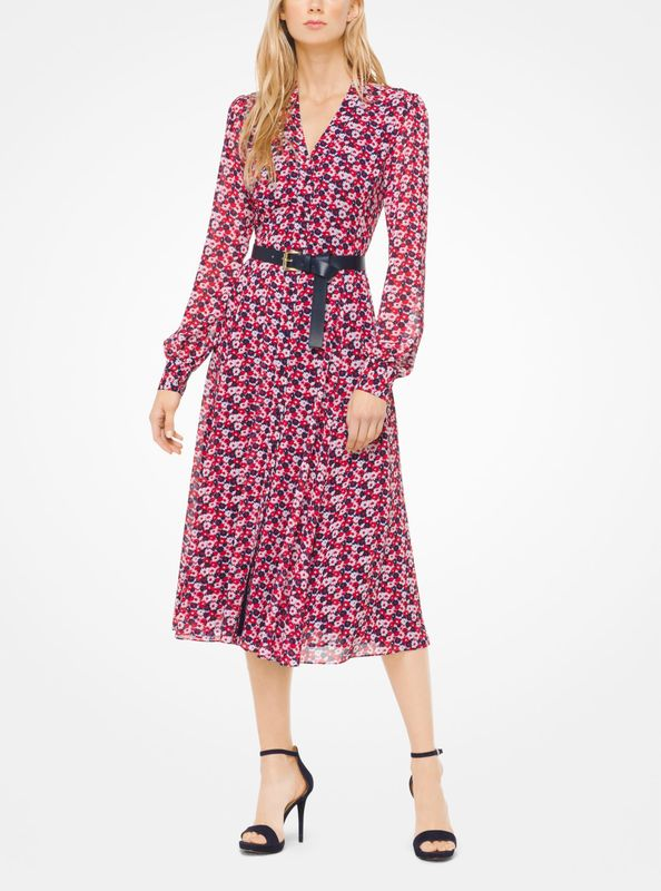 MICHAEL Michael Kors Carnation Georgette Shirtdress