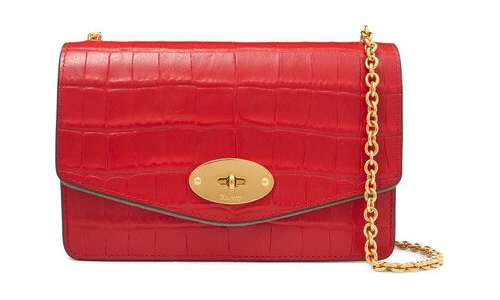 Mulberry Small Darley Bag in Red Croc