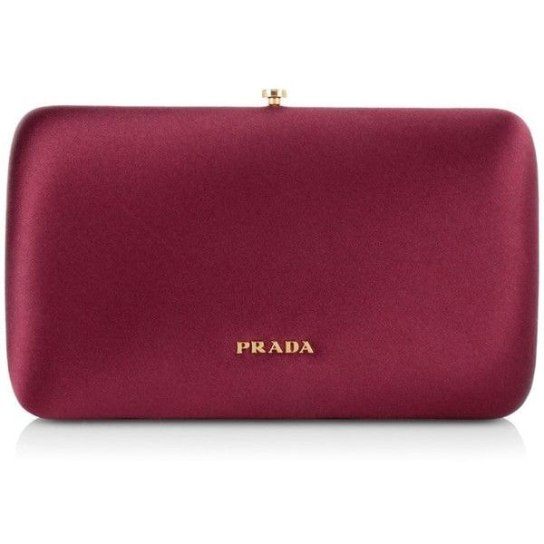 Prada 'Rosa' Clutch in Burgundy Velvet