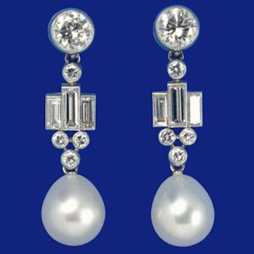 Bahrain Pearl Drop Earrings