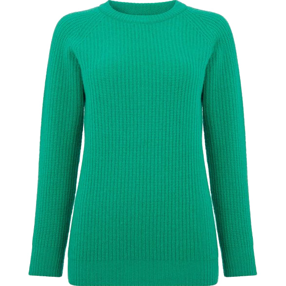 Really Wild Emerald Green Long Crew Neck Jumper