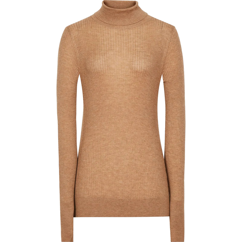 Reiss 'Sophie' Camel Knitted Roll Neck Top