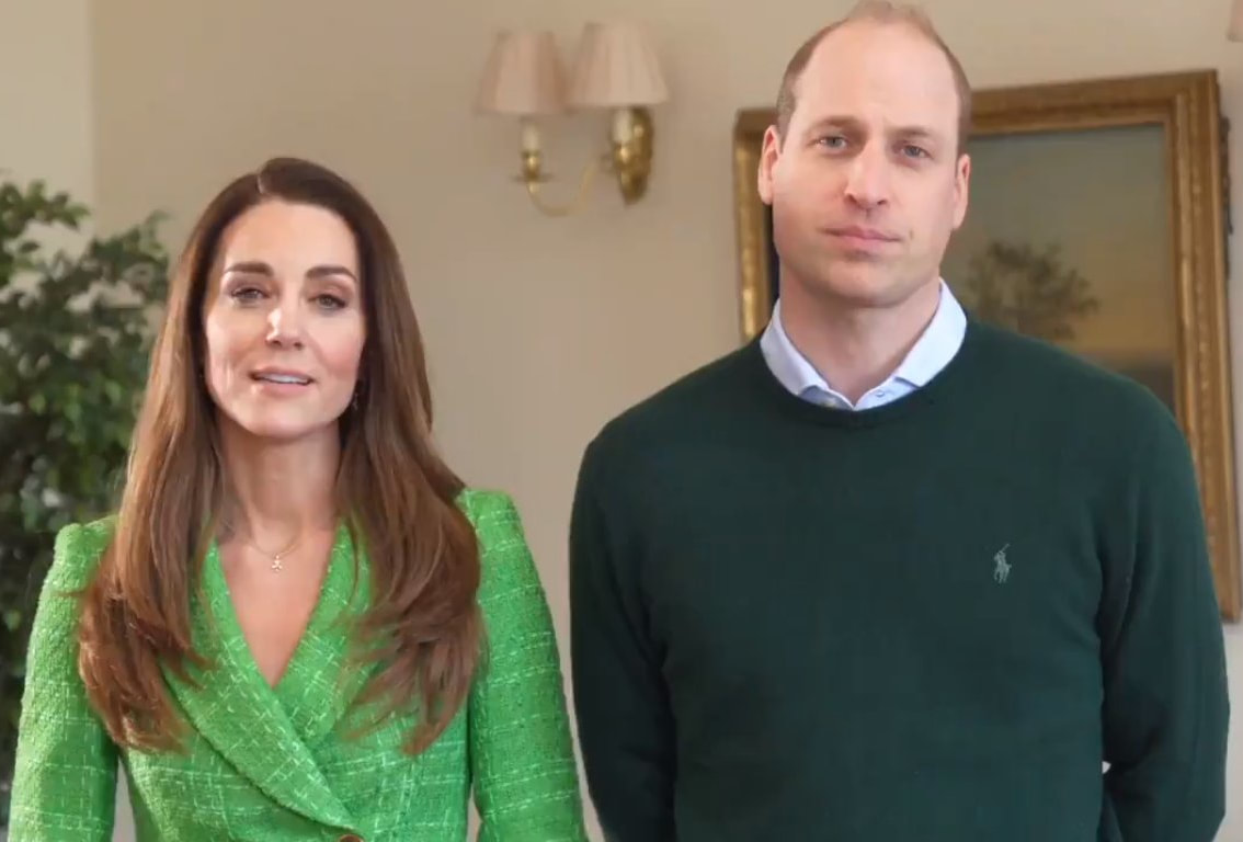 The Duke and Duchess of Cambridge joined world leaders in a video to send St Patrick's Day greetings from around the world.