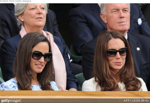Pippa and Kate Middleton wear Givenchy sunglasses