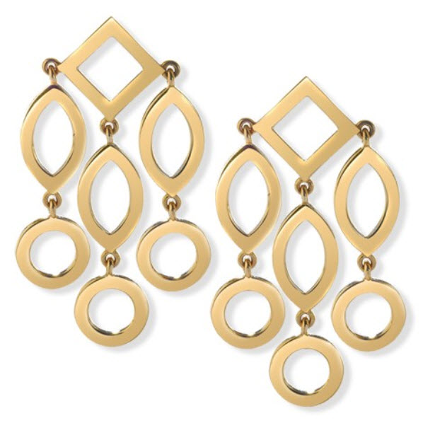 Cassandra Goad Gold Temple of Heaven Girandole Pendant Earrings