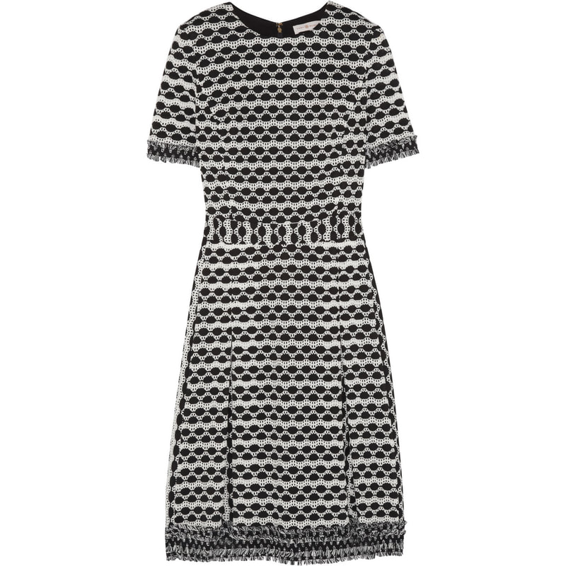 Tory Burch 'Paulina' Open-Knit Dress