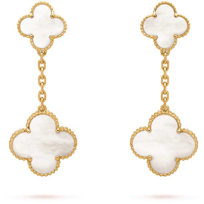 Van Cleef & Arpels Magic Alhambra Earrings with 2 Motifs