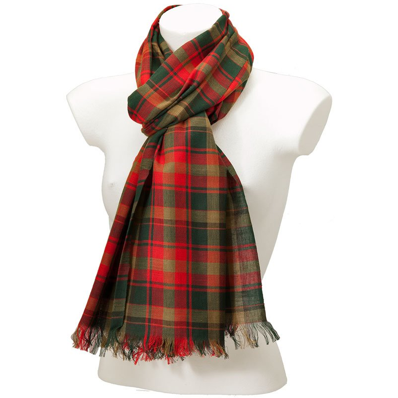 York Scarves Canadian Maple Leaf Tartan Scarf